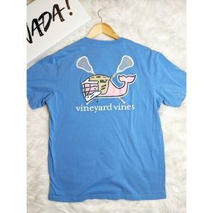 Vinyard Vines Blue Lacrosse Tee Shirt